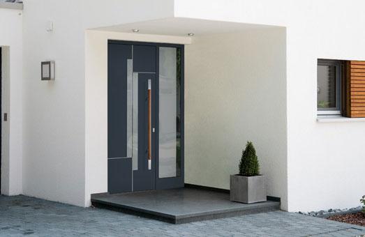 Einbaubeispiel Meru Aluminium Haustür