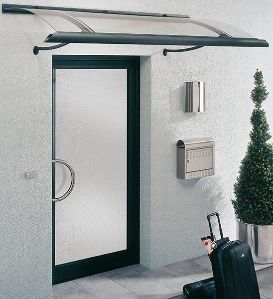 Vordach für Aluminium Haustür